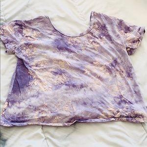 Urban Outfitters Ecote Purple Tie Dye Purple Shirt